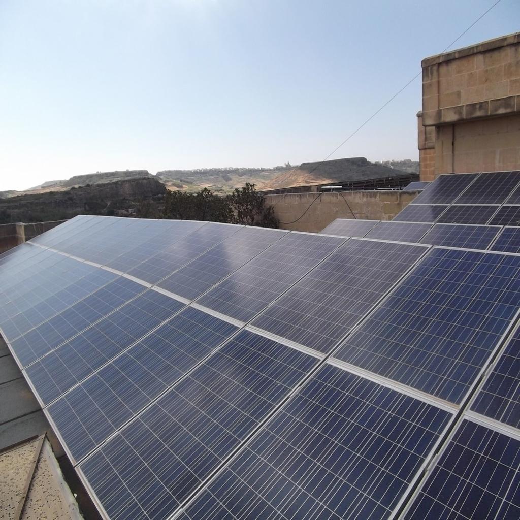 Cornucopia Hotel Malta: Industrial PV Panels Malta